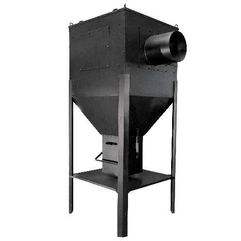 Grauer Multizyklon aus Metall zur Rauchgasentstaubung