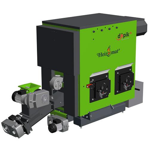 Grüne Pelletheizung zur Verbrennung von Pellets und Hackschnitzeln
